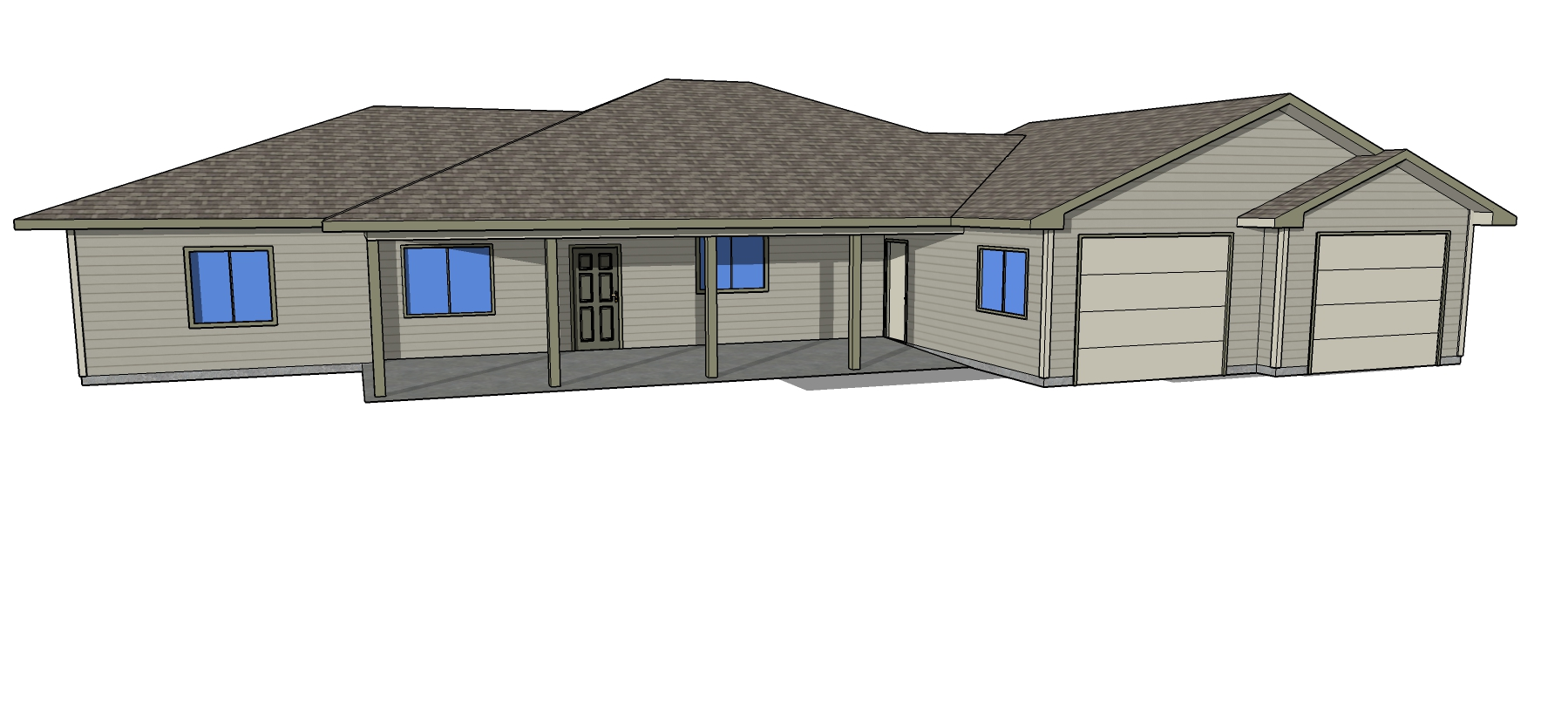 Bowman Main House Plans - Front View