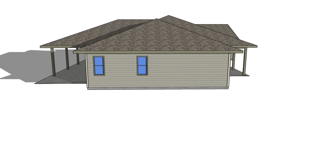 Bowman Main HOUSE Plan left side view