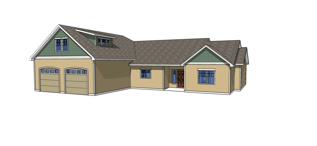 another one of Spokane Home Design's original bonus room house plan designs.