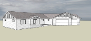 house plan sketchup example