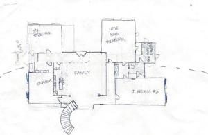 house plan  sketch