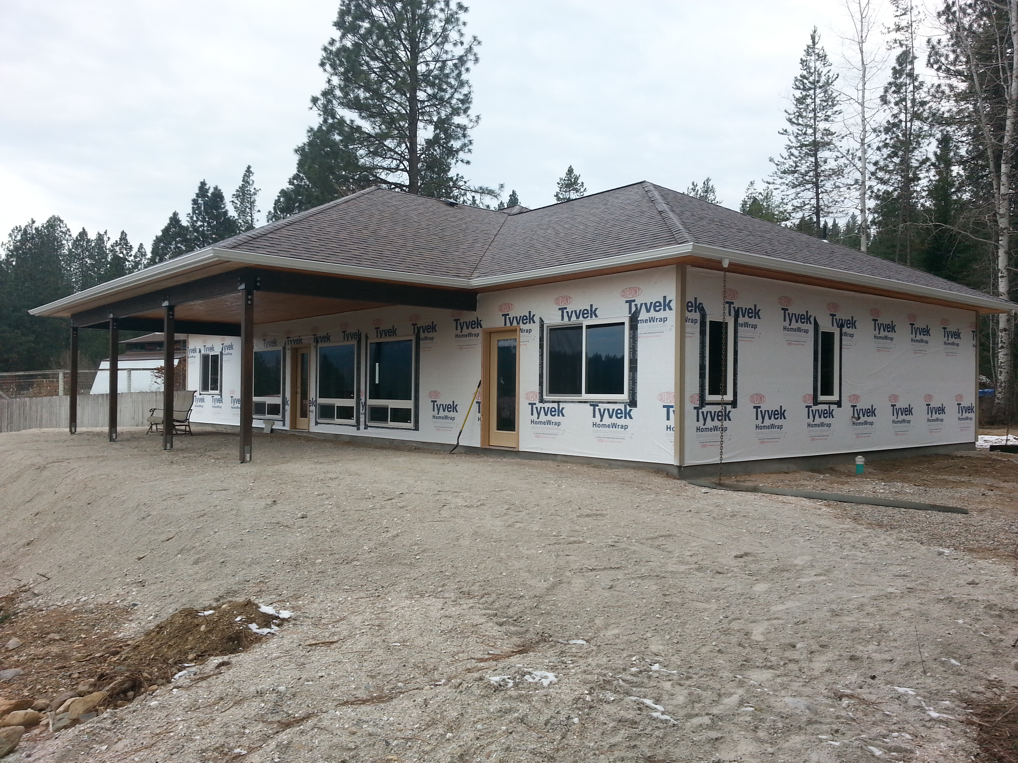 The bow manor efficient and affordable spokane house Concrete slab house plans
