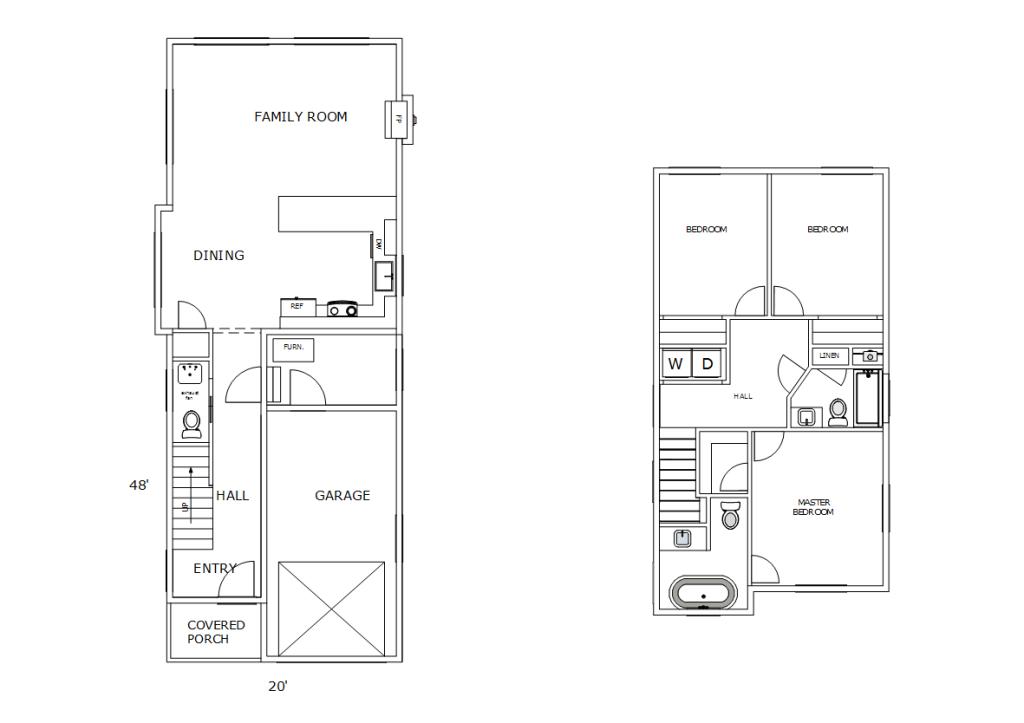 A narrow lot house plan