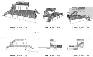 Vince two story deck plans elevations page