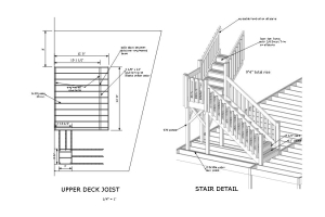 Vince two story deck plans stair detail