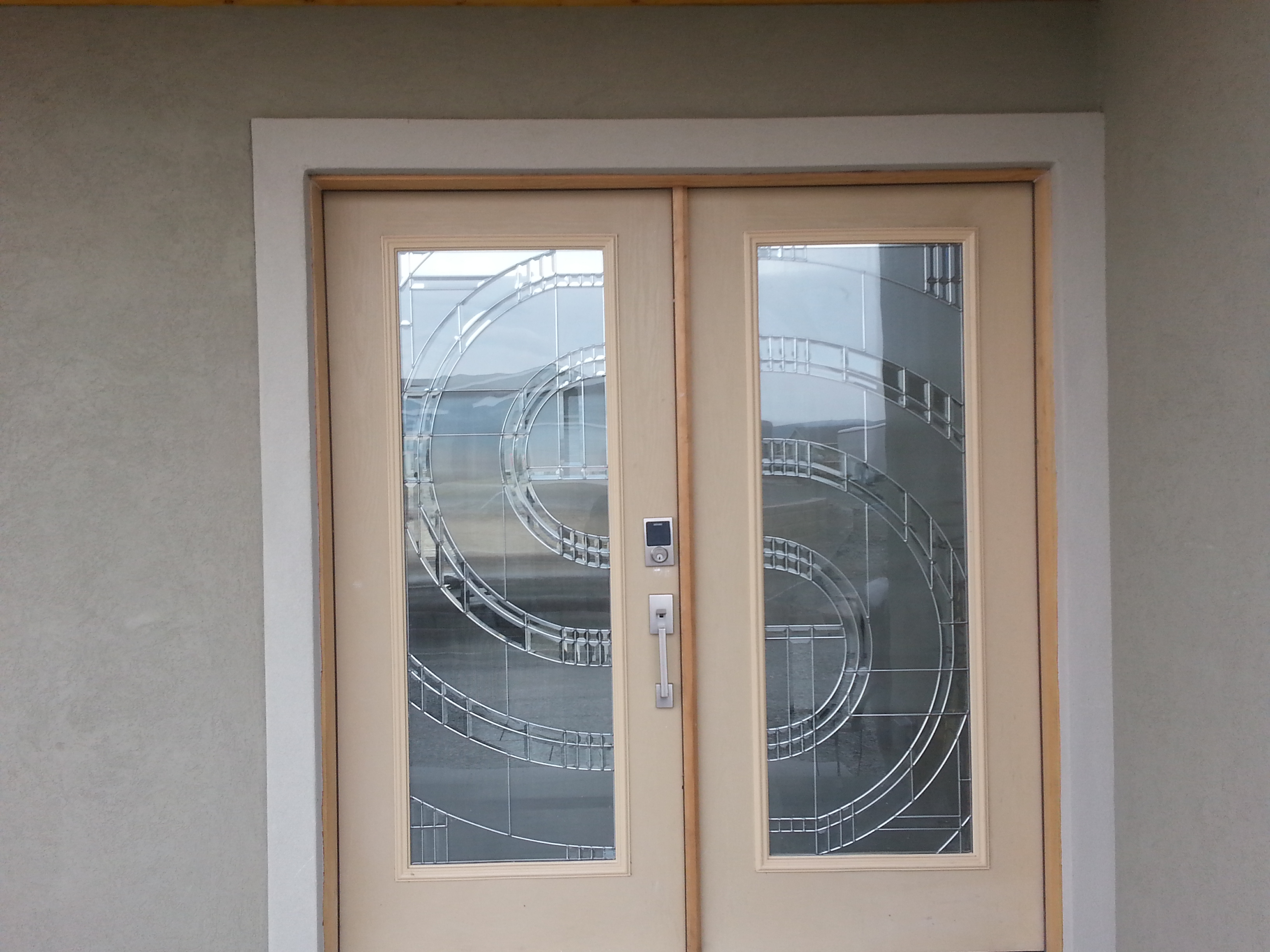 modern home design in central washington front door