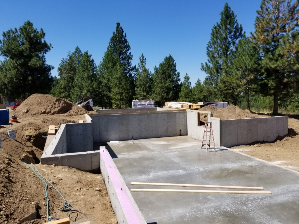 miller custom home foundation