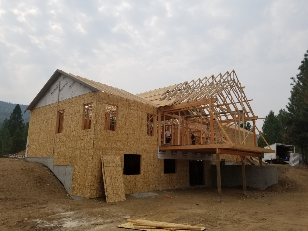 framing the millers custom home