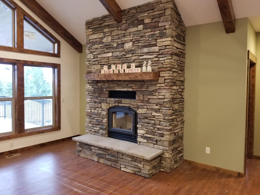 This is the Miller's beautiful fireplace