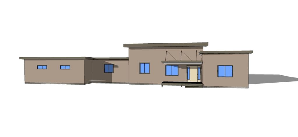 Spokane modern floor plan by Craig Swanson.