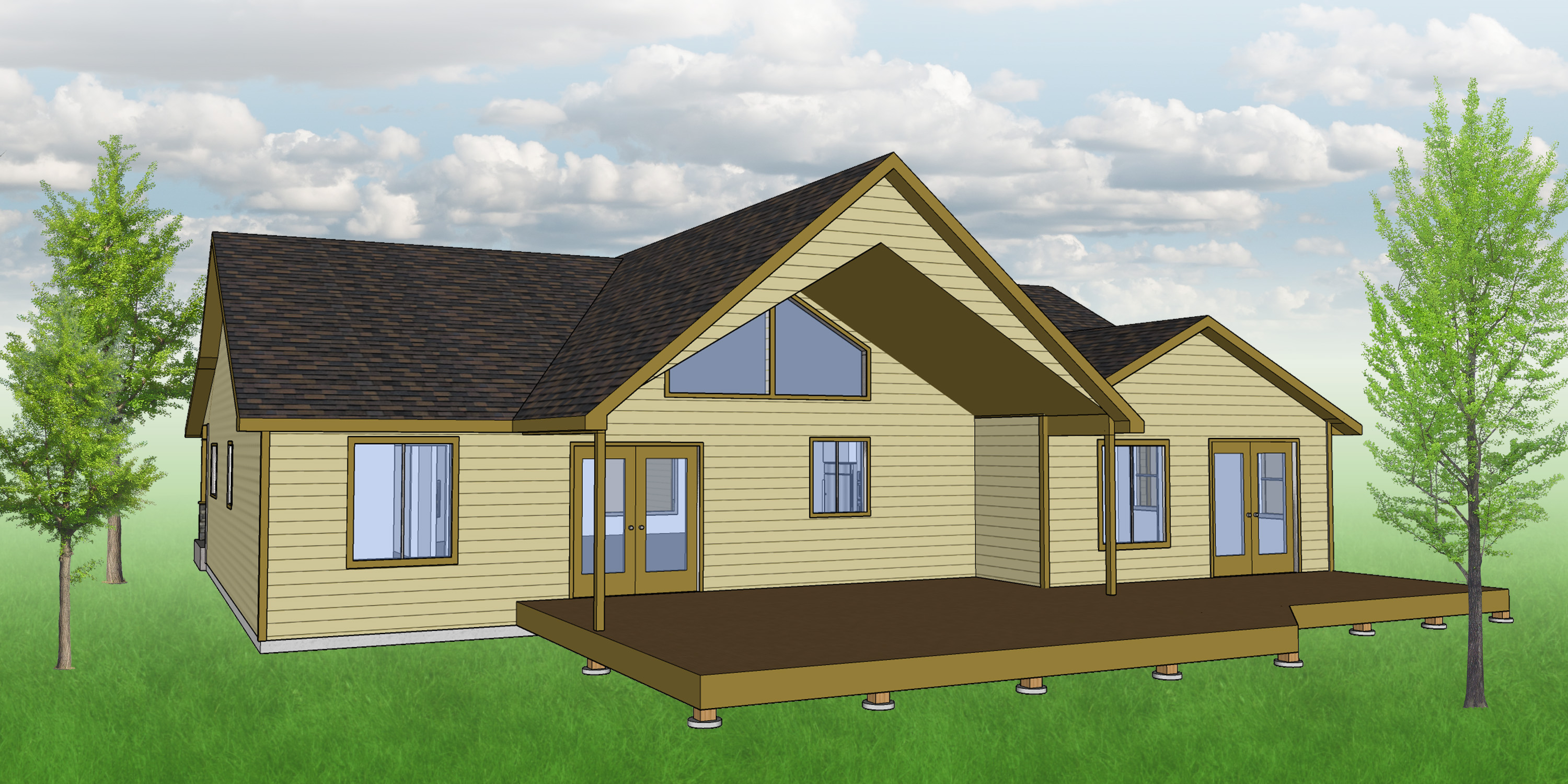 Nesst House Plan - Back