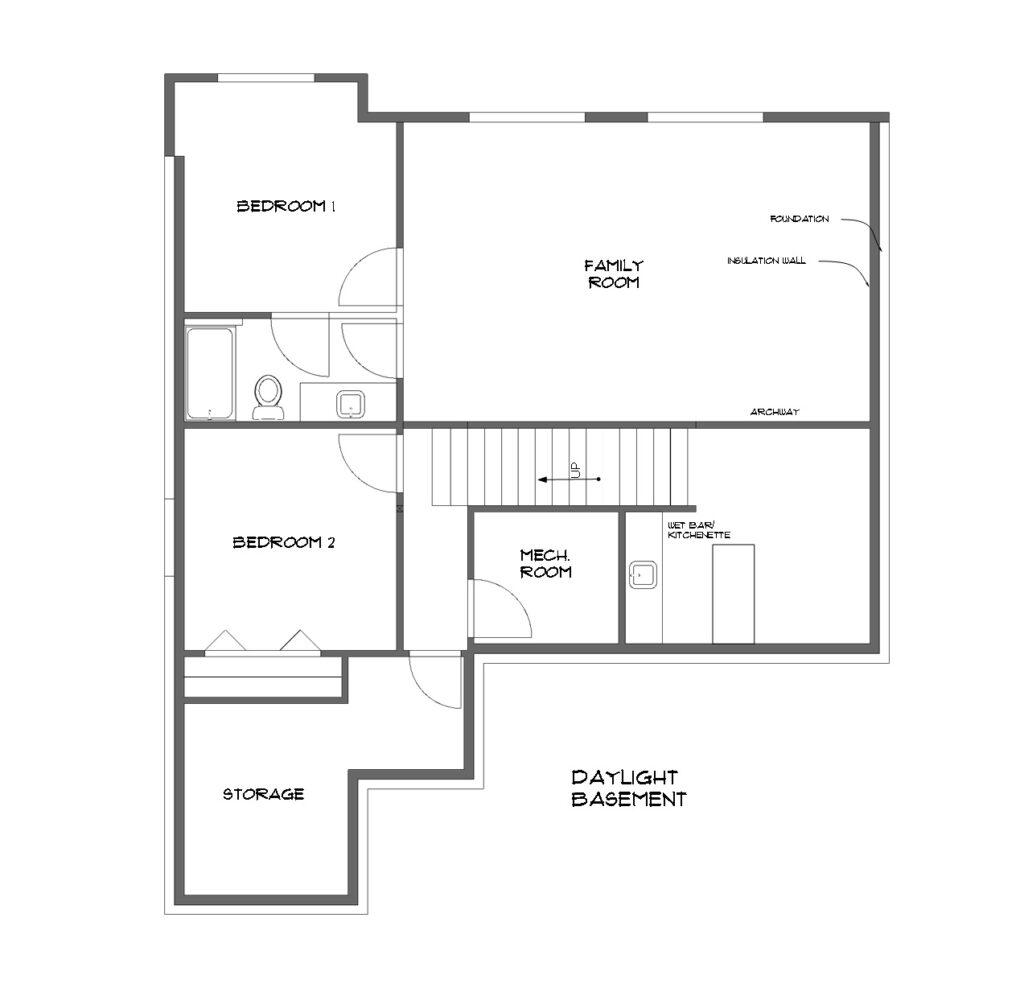 The Lewiston Basement House Plans