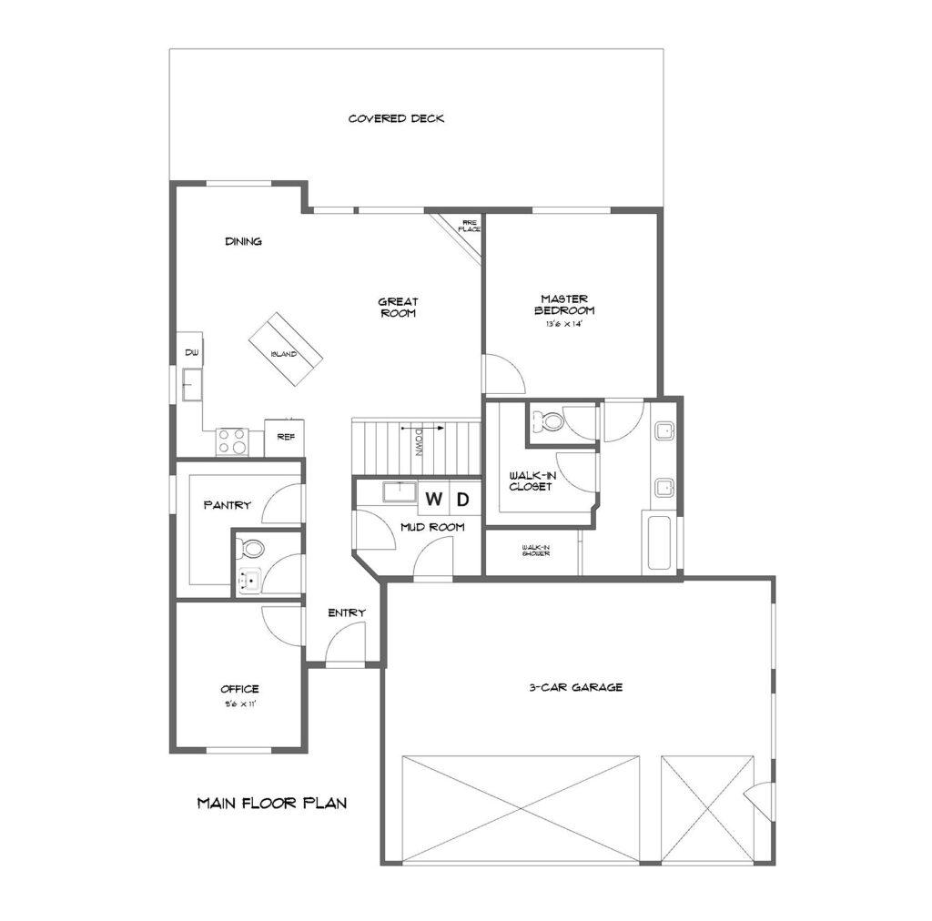 The Lewiston Floor Plan Spokane