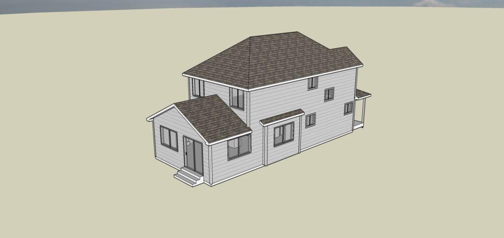 Newman House Plan - Left Angle